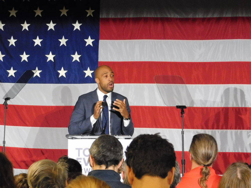 Mandela Barnes says he needs the people of Wisconsin to get him into office. (Picture by Nyesha Stone)