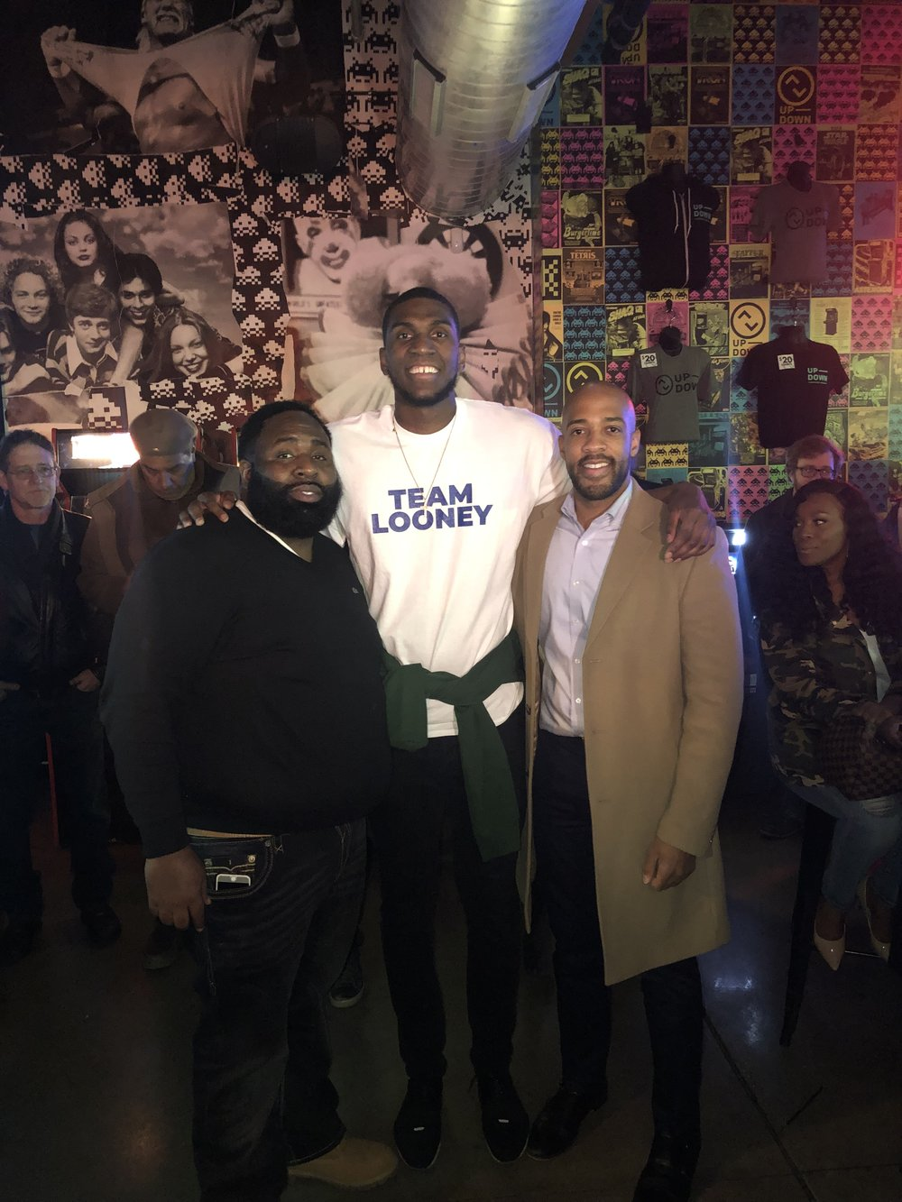 Ward Jenkins (Kevon Looney's manager), Kevon Looney and Mandela Barnes (WI Lt.-elect) (Picture provided by Ward Jenkins)