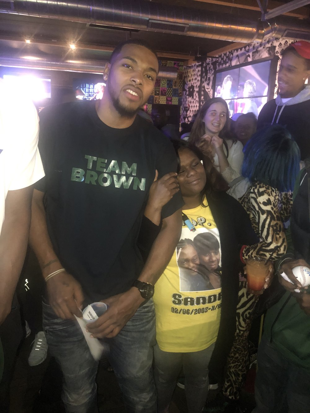 Sterling Brown and Sandra Park's mother Bernice. (Picture provided by Ward Jenkins)