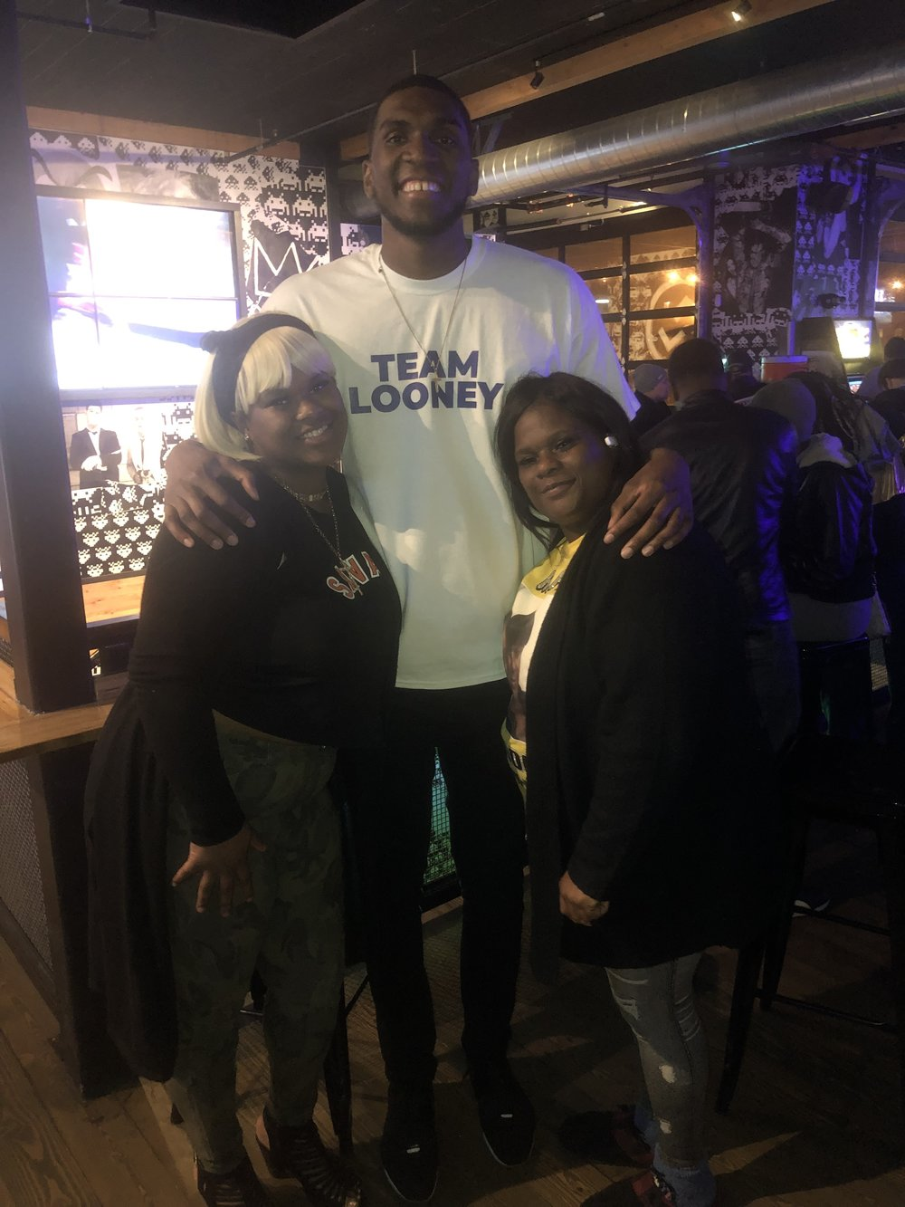 Kevon Looney and Bernice Parks. (Picture provided by Ward Jenkins)