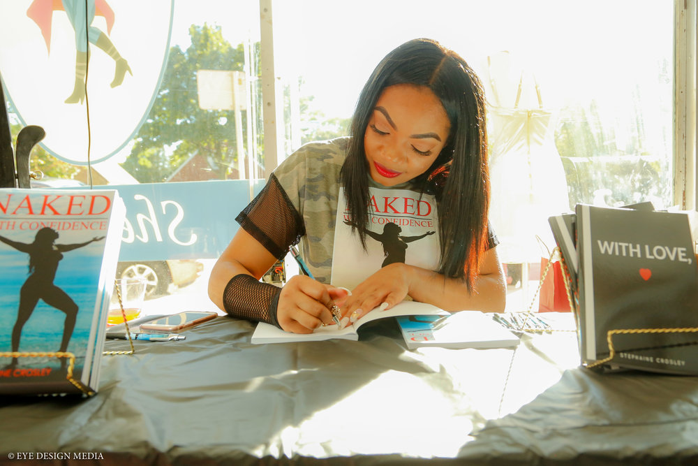 Steph Crosley at one of her book signings. (Picture by Eye Design Media)