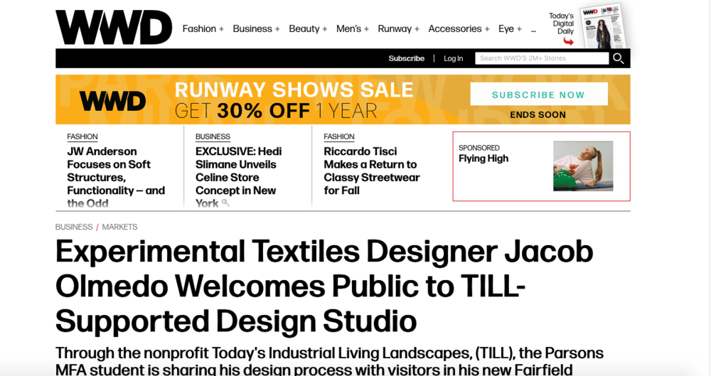 https://wwd.com/business-news/markets/experimental-textiles-designer-jacob-olmedo-welcomes-public-to-till-supported-design-studio-1202864135/