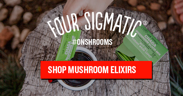 FOURSIGMATIC.  Melt away stress, boost immunity, relax & sleep deeper, improve productivity, increase brain power, get stimulation w/o the jitters. Sounds like all the good stuff you want? Welcome to the medicinal fungi kingdom! FourSigmatic highest quality mushroom & herbs wrapped in little packets of magical power that you can add to your coffee or warm drink.  Enter our code and get 10% off your order:  integrateyourself