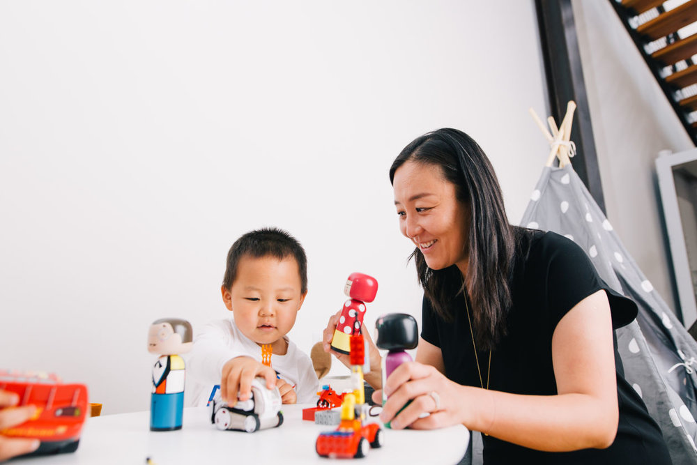 Xuezhao Lan and her son Holden Ling at Basis Set Ventures, a venture capital fund that invests in artificial intelligence. PHOTO: ANASTASIIA SAPON FOR THE WALL STREET JOURNAL