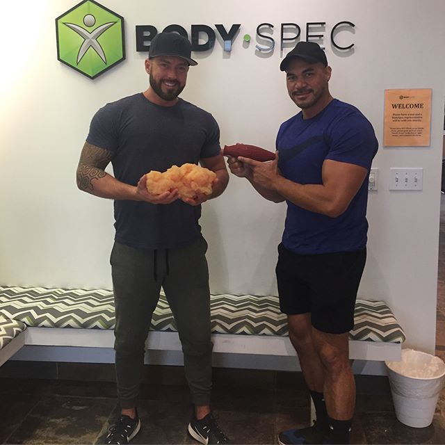 Day 98/100: Went to @bodyspec in West LA today to check my body fat/composition. I wish I had done this before starting my #100daychallenge so I could see how much I've changed. - - I've done hydrostatic testing before, but this method is said to be most accurate. It's simple; you lay on a table in your workout clothes and the machine scans you from head to toes in about 13 mins. It's the same test that would measure bone density. - - My body fat measured at 15% 😱I know I have quite a ways to go, to get to single digit body fat which will be my next goal. These 98 days of posting daily on Instagram/Facebook have really helped me to stay on track. Everyone kept me motivated and inspired to push through. I hope you can all set your own personal goals and reach them. Tell a friend. Tell the world and with their support, you will succeed! 🏆😀