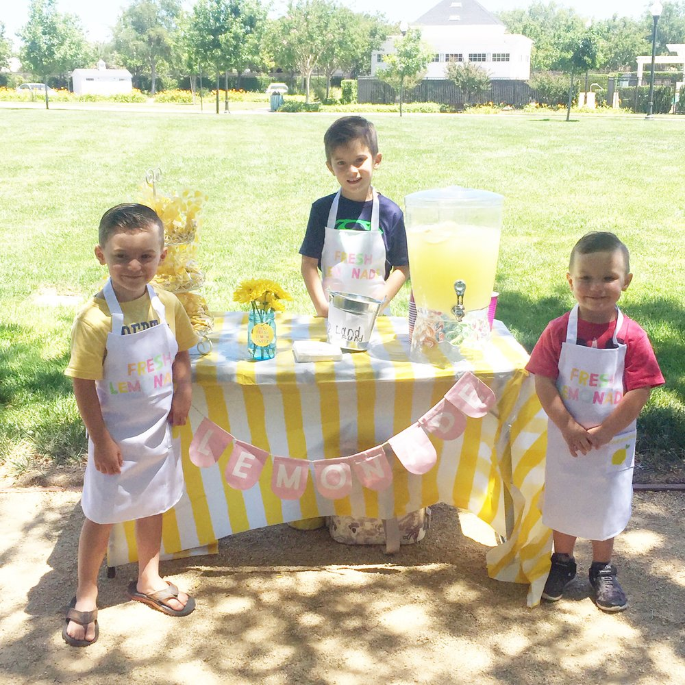 The kids set up a lemonade stand at the park in our neighborhood and made $75!