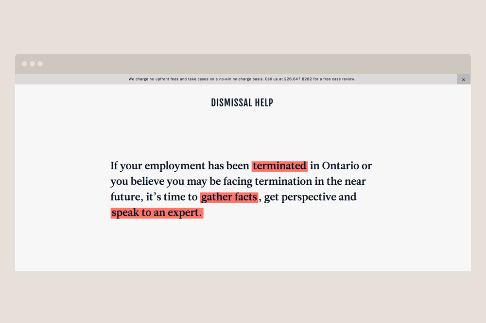 Dismissal Help Homepage