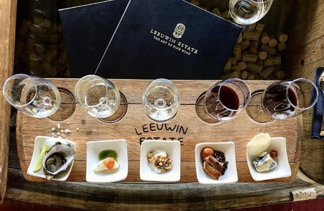 """Wine & Food Flight"" at Leeuwin Estate"