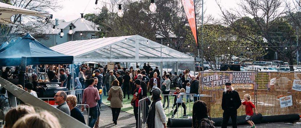 Settlers Tavern Car Park Collective. Photo: Cabinfeverfest.com.au