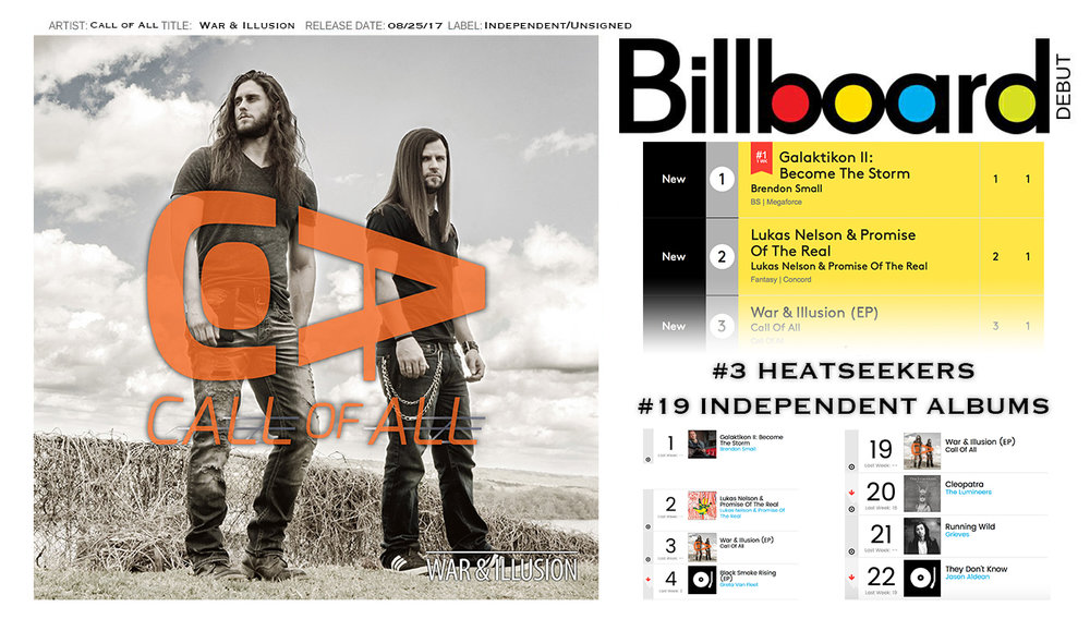 Call of All Billboard Debut.jpg