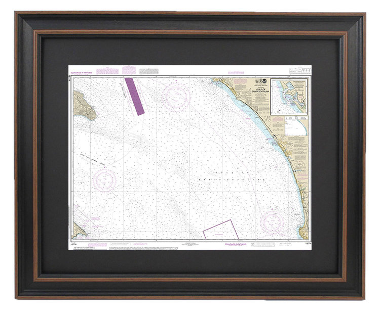 FRAMED NAUTICAL MAPS — Framed Nautical Map 18774 - Gulf of Santa on