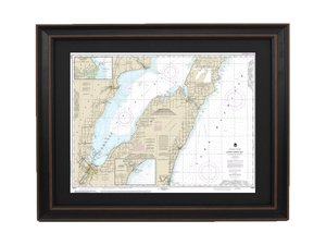 FRAMED NAUTICAL MAPS Framed Nautical Maps Wisconsin - Map of wisconsin and michigan