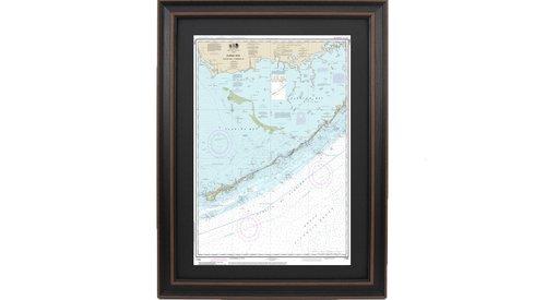 Framed Nautical Maps Framed Nautical Maps Florida