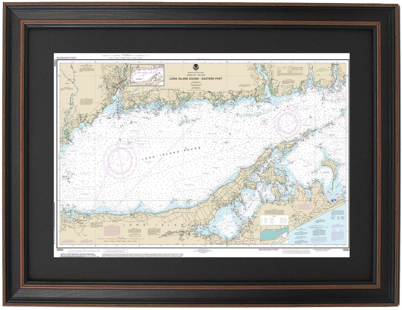FRAMED NAUTICAL MAPS — Framed Nautical Map 12354 - Long Island Sound, on map of eastern rhode island, map of boston sound, map of washington sound, map of rhode island sound,