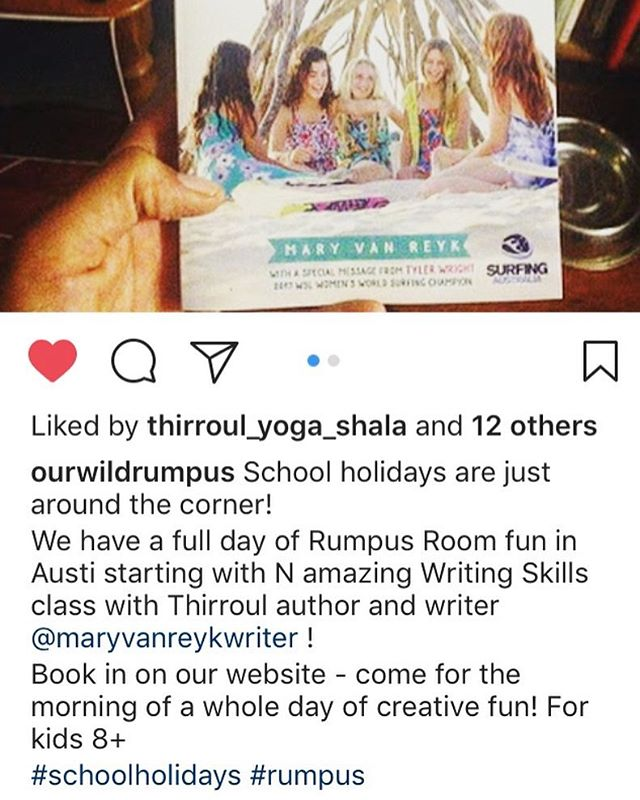 Don't forget too book in for my  upcoming #schoolholiday #writingworkshop with @ourwildrumpus - We're going to talk about how to develop characters in writing, and play lots of fun games! 📓📔📚📙📘📗📕📕🖊🖋✒️🖌🖍✏️📝