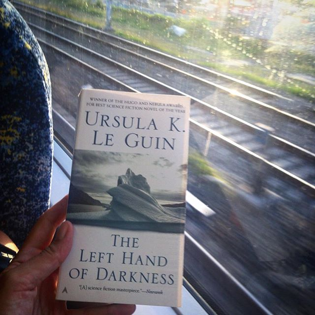 A very belated start to my next #feminist #bookclub read! Will have to seriously dedicate some time to finish before next week's meeting...... 😬🤓 📕❤️👌🏾#speedreader #oopsididitagain #ursulaleguin