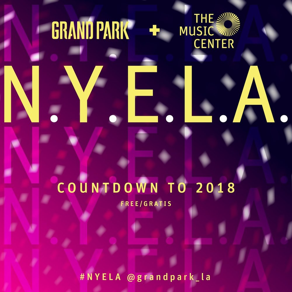 SUN DEC 31: Dance your heart out and into 2018 with best friends, sweeties, friendly neighbors, and those cousins from out-of-town at the West Coast's flagship New Year's Eve celebration  # NYELA    # losangeles    # countdown    https://nyela.grandparkla.org