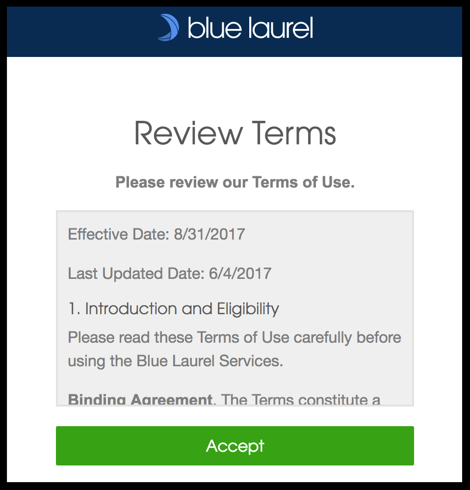 Step 3. Review terms of use for requesting medical records
