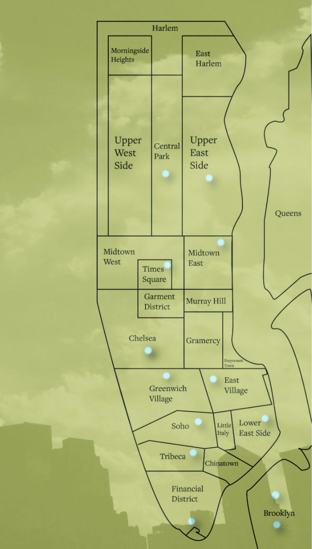 Main map navigational screen -