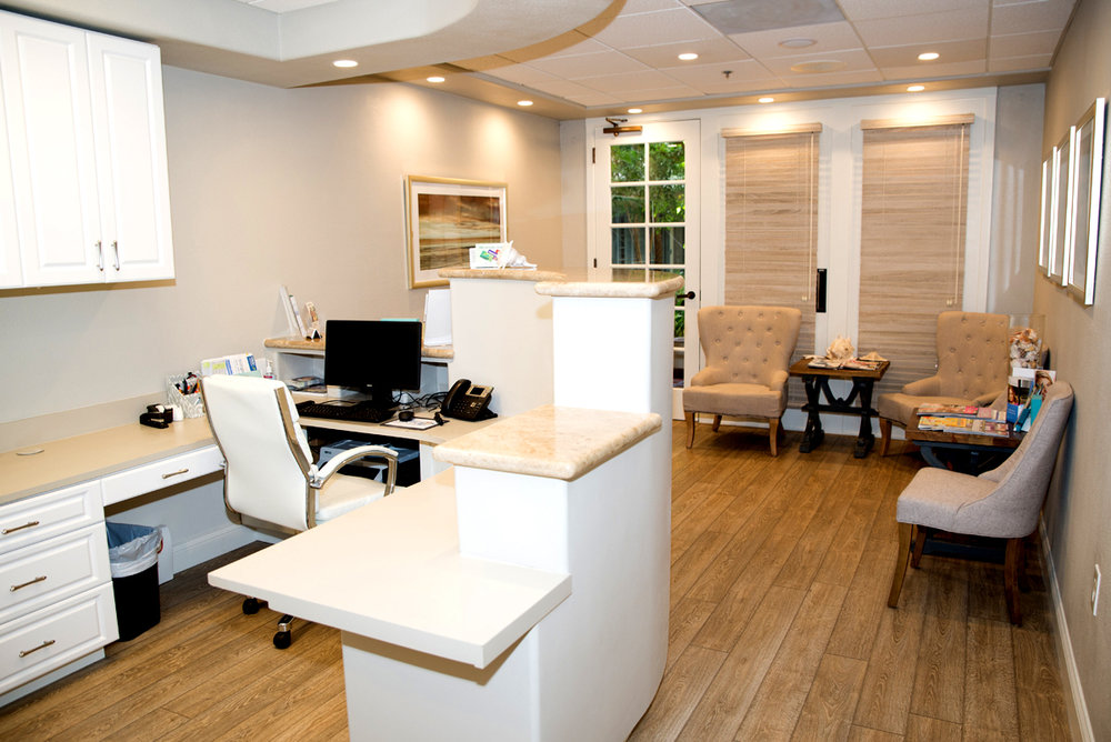 Beachside Dental Behind the Front Desk
