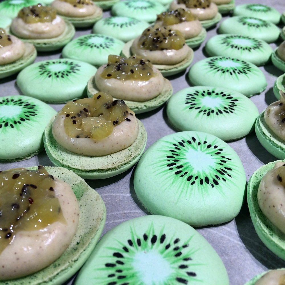 Kiwi Macarons by Seed Confections