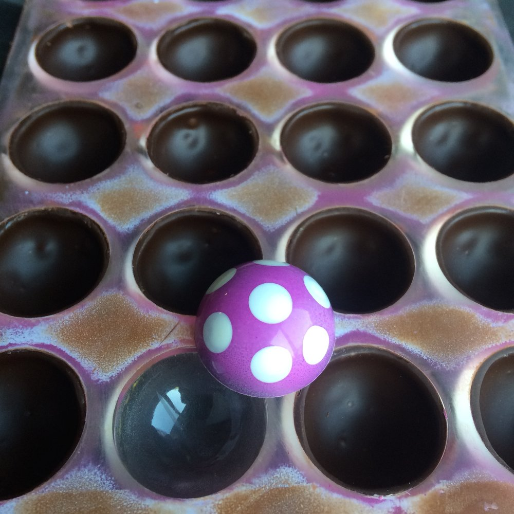 Polka Dot Chocolates by Seed Confections