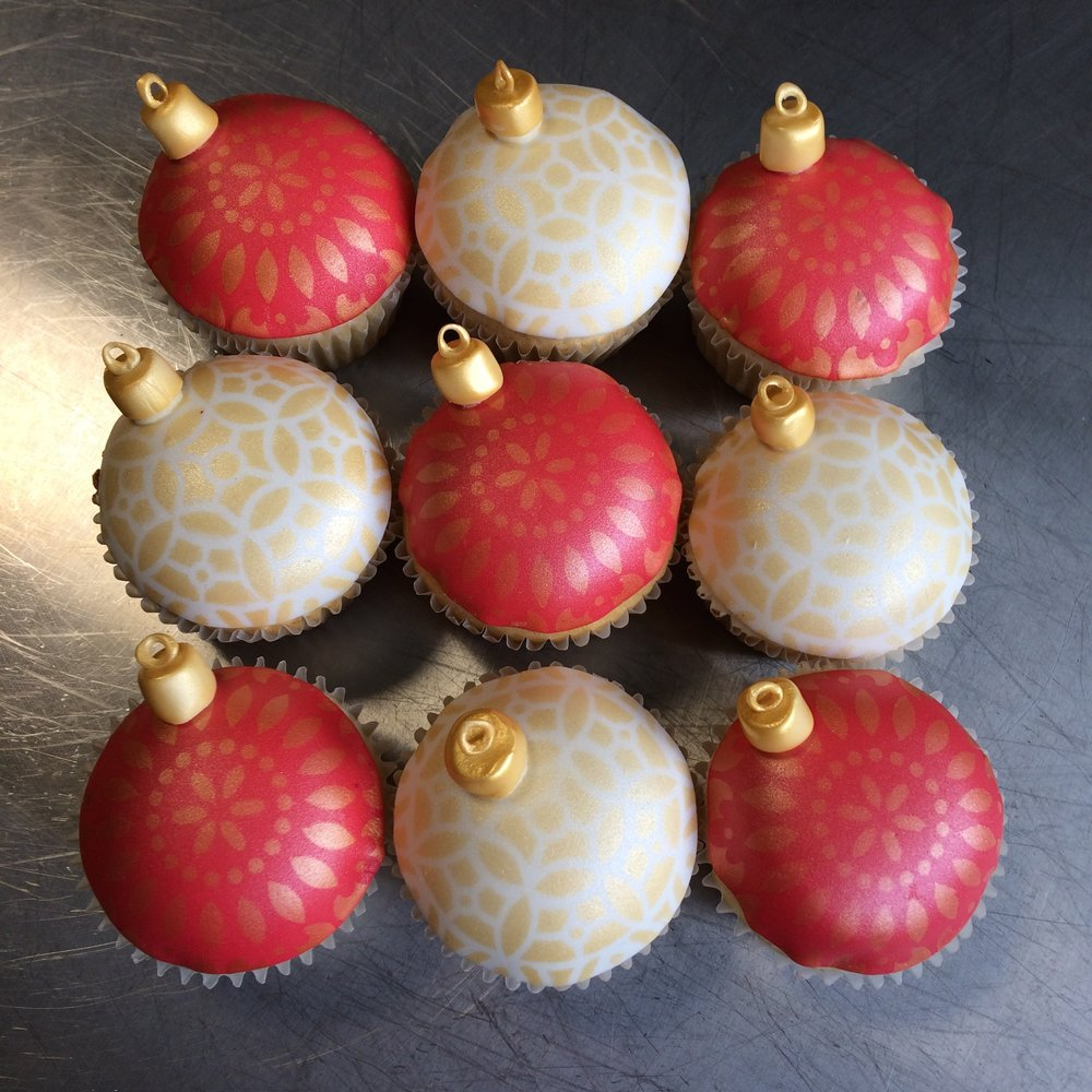 Ornament Cupcakes by Seed Confections