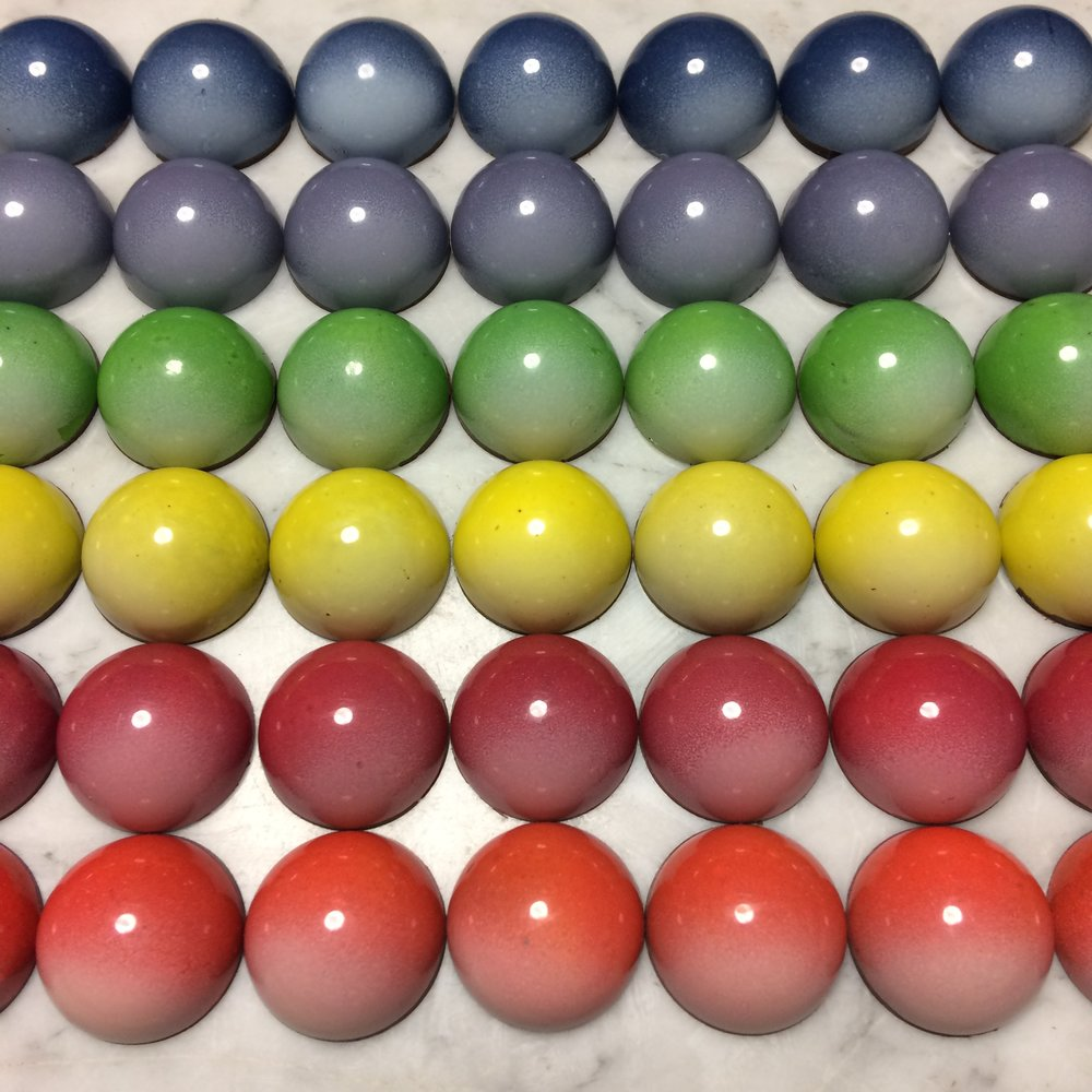 Colour Wheel Chocolates by Seed Confections