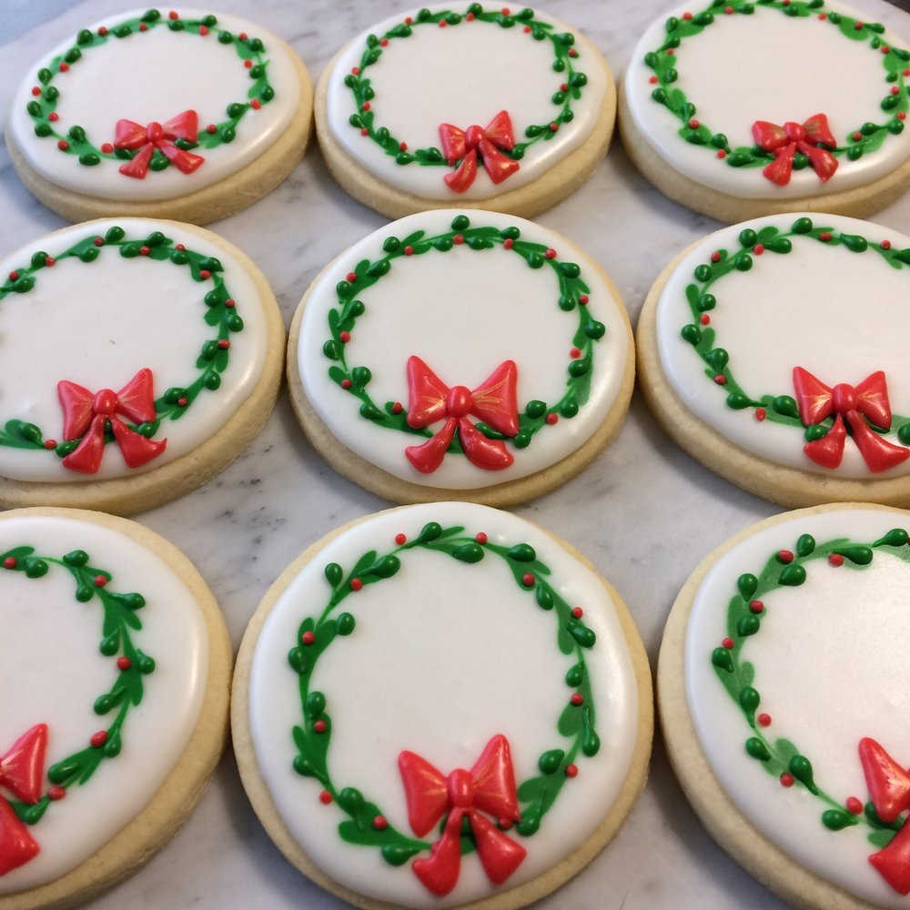 Wreath Cookies by Seed Confections