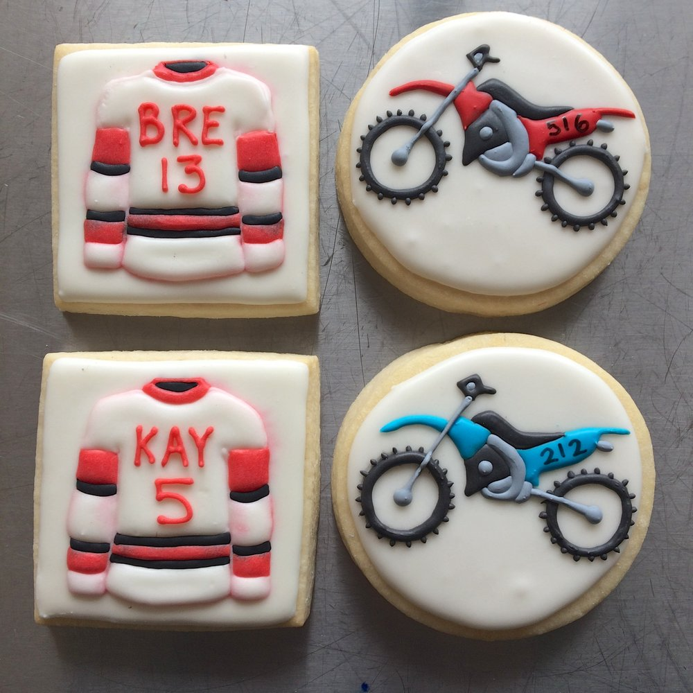 Dirt Bike / Hockey Cookies by Seed Confections