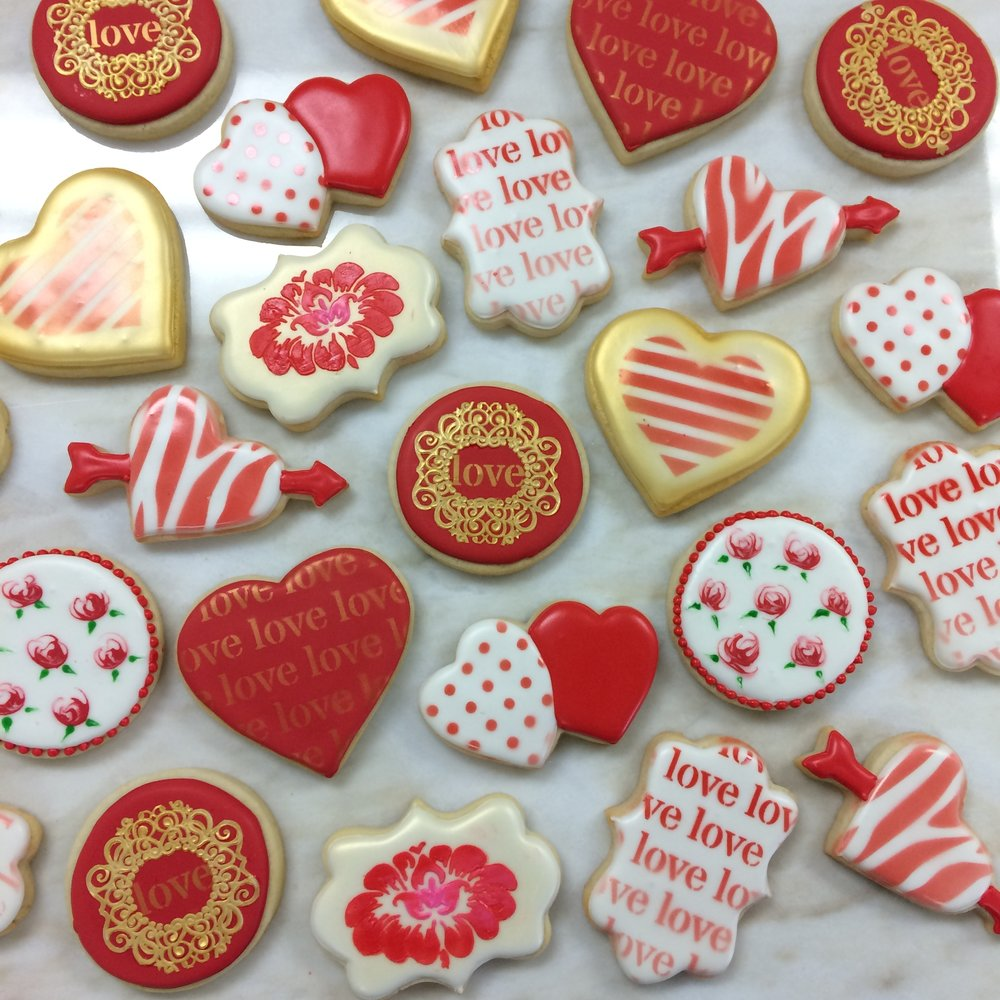 Valentine's day cookies by Seed Confections