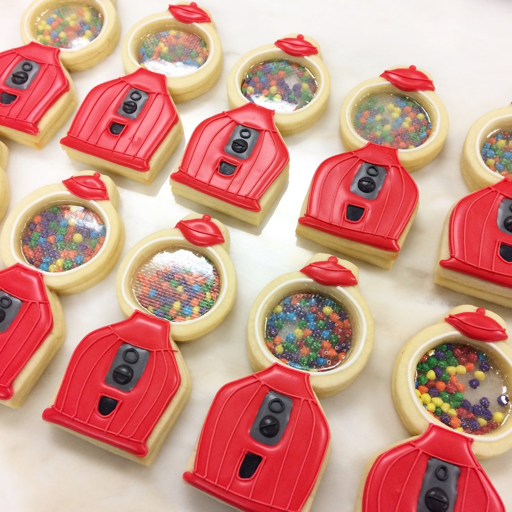 Gum ball machine cookies by Seed Confections