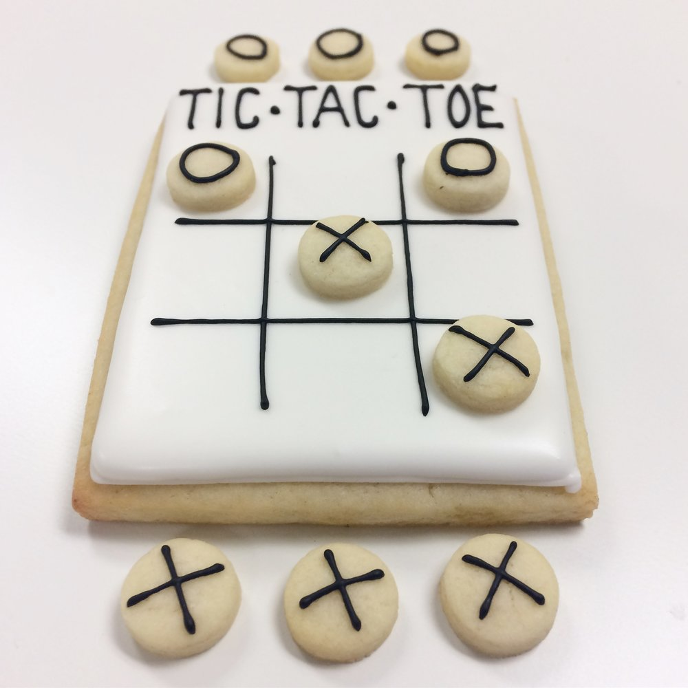 tic tac toe cookies by Seed Confections
