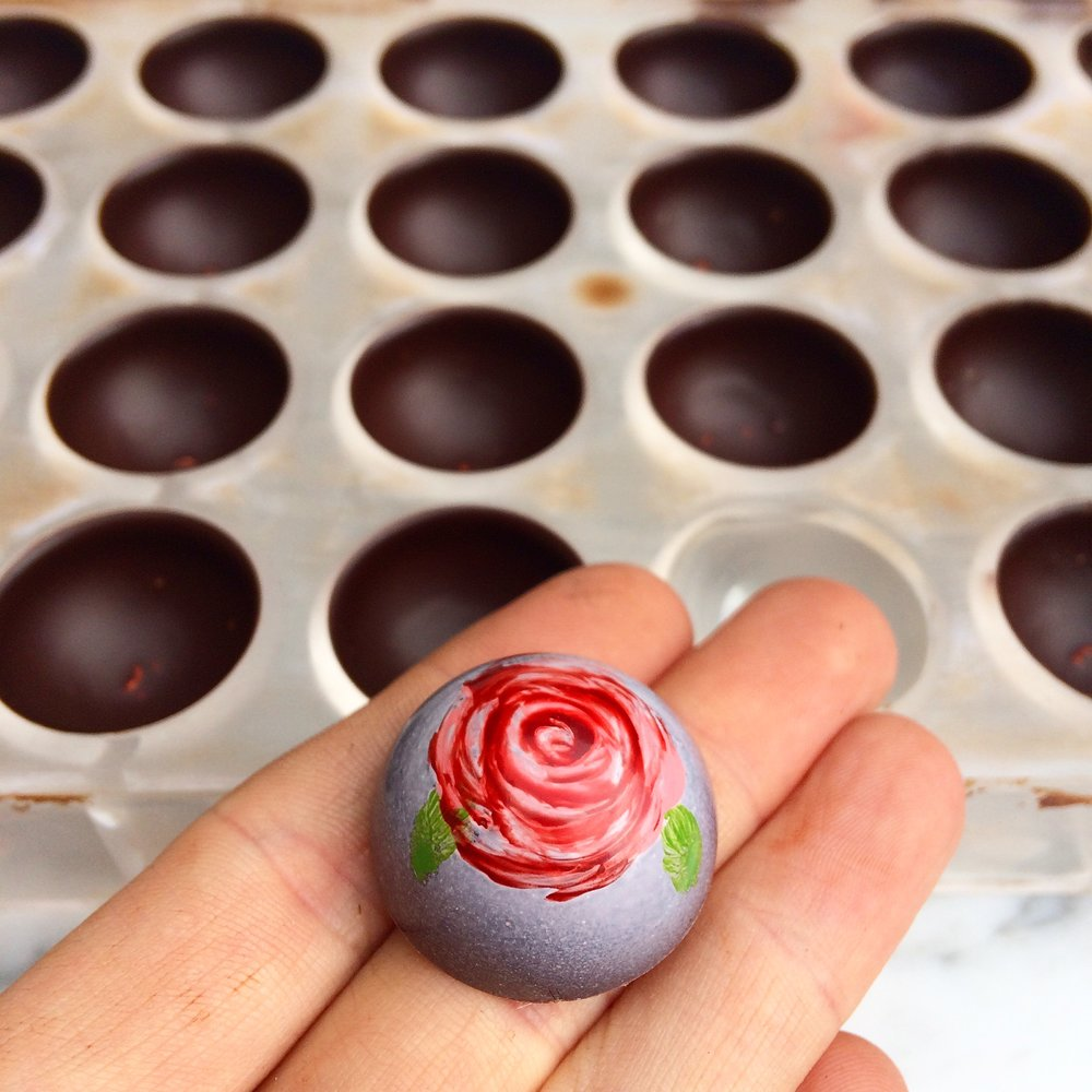 Rose chocolate by Seed Confections