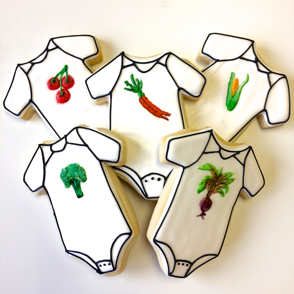 Farmers market baby shower by Seed Confections