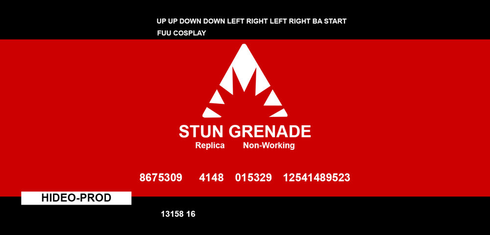 This is the layout I made for my grenade stickers, feel free to use it if it helps you out with your costume!