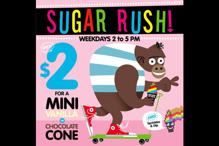 $2 mini cone store weekday special