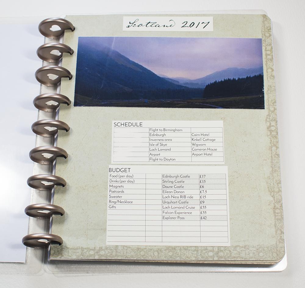2017 Scotland Schedule & Budget