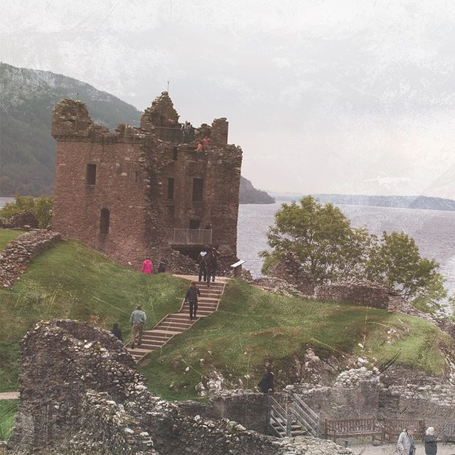 Urquhart Castle, Scotland. On my Scotland vacation last year, I visited a lot of castles.  Some were in good condition, some in ruins like Urquhart.  Castles each have their own personality, and they often spark against my creativity, for stories, paintings, photography.  It's something I've learned about myself over the years - why I enjoy what I enjoy when I'm traveling.  It's helped me know myself better, but also plan better vacations and short trips. This is what I mean when I talk about a holistic approach to travel.  More to come in future blog posts, including a new gift for signing up to my mailing list.  #UrquhartCastle #Scotland #LochNess #Travel #creativelife #holistictravel #creativelifehappylife