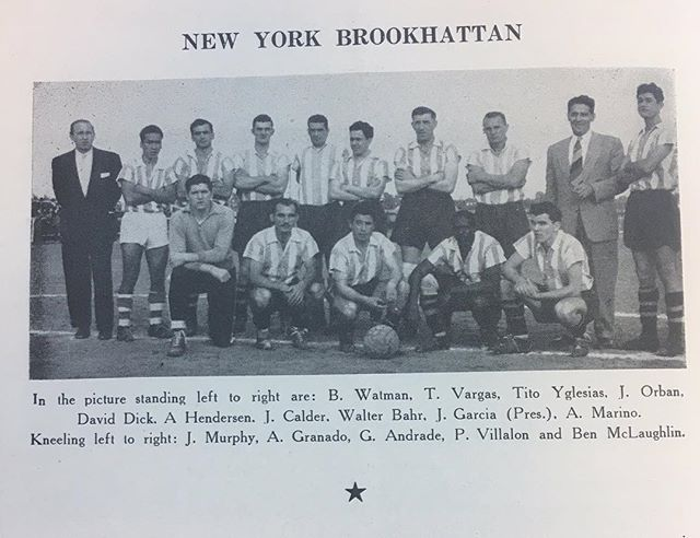 The 1954-55 side from that season's ASL guide, courtesy of @soccermavn. #tbt