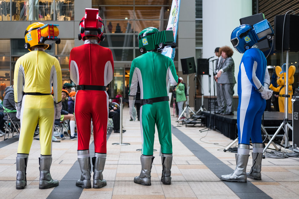 Great colours - strange costumes. Tokyo Midtown