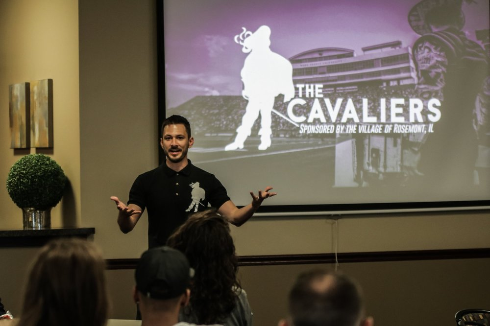 Chris Lugo during The Cavaliers' 2018 Leadership and Safety Kickoff Weekend