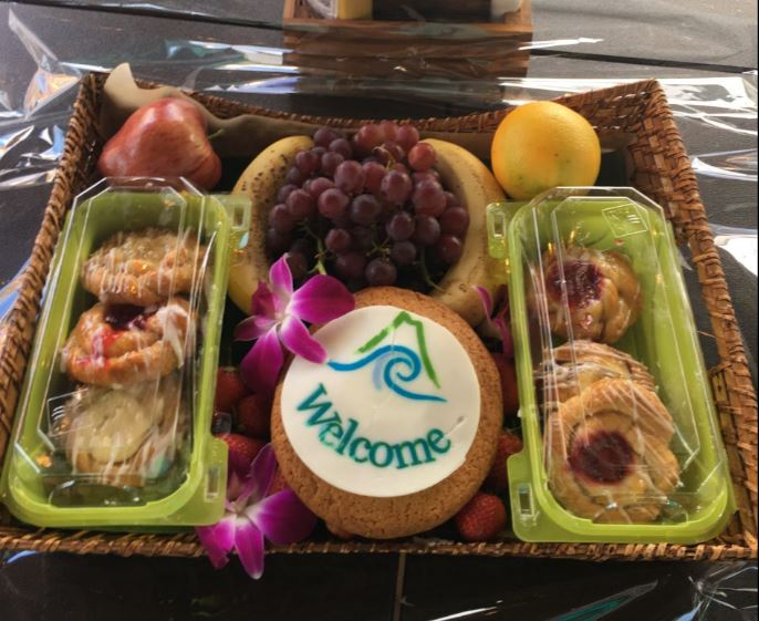 The snack tray provided for each cabana