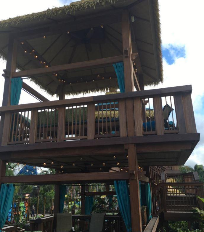 The 2-story cabanas