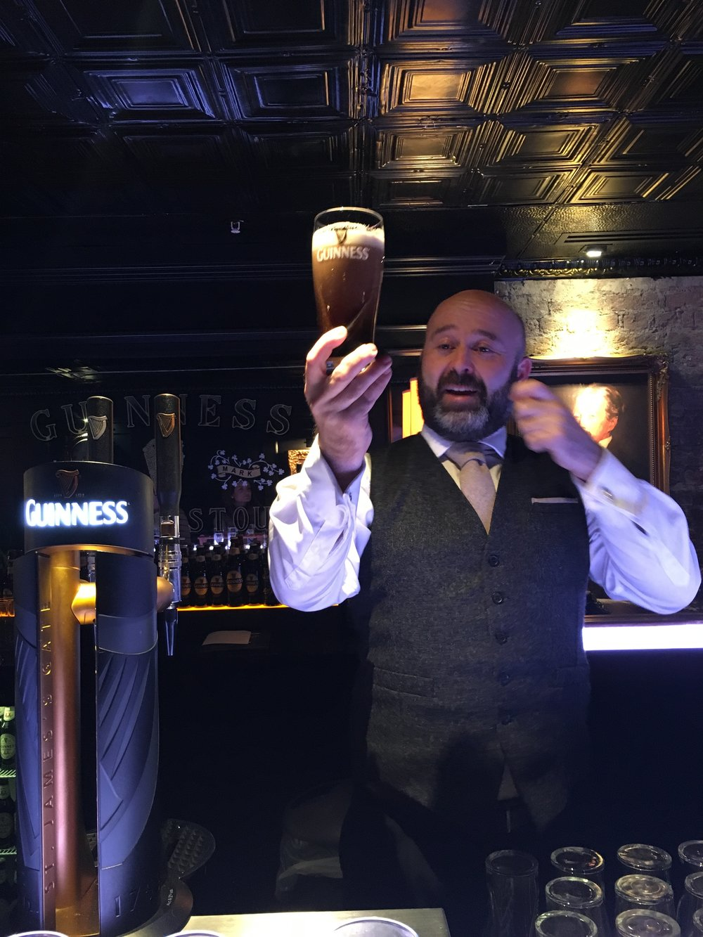 Our bartender, Colm