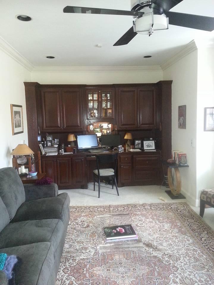 Home Office Remodel In Coffee Creek | Edmond