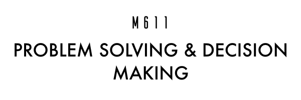 Providing each manager a good understanding of the key models in problem solving and address the techniques in decision making