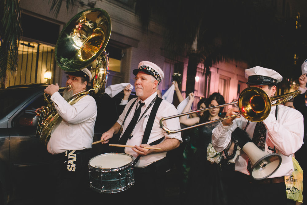Second Line Band. Photo by Christie for Hi Volt Studios