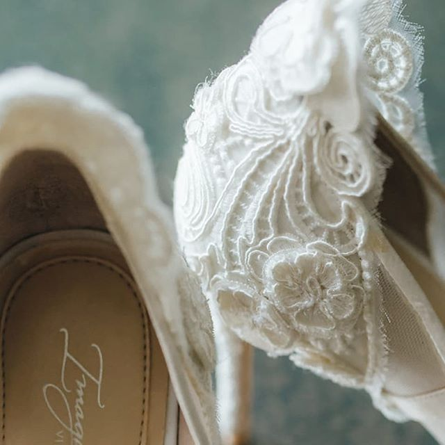 Can't get enough of this beautiful #lace detail on our bride's #wedding shoes!!! #weddingphotography #weddingdesign #weddingday #shoes #bride #nola #nolalove #igersnola #love #beautiful
