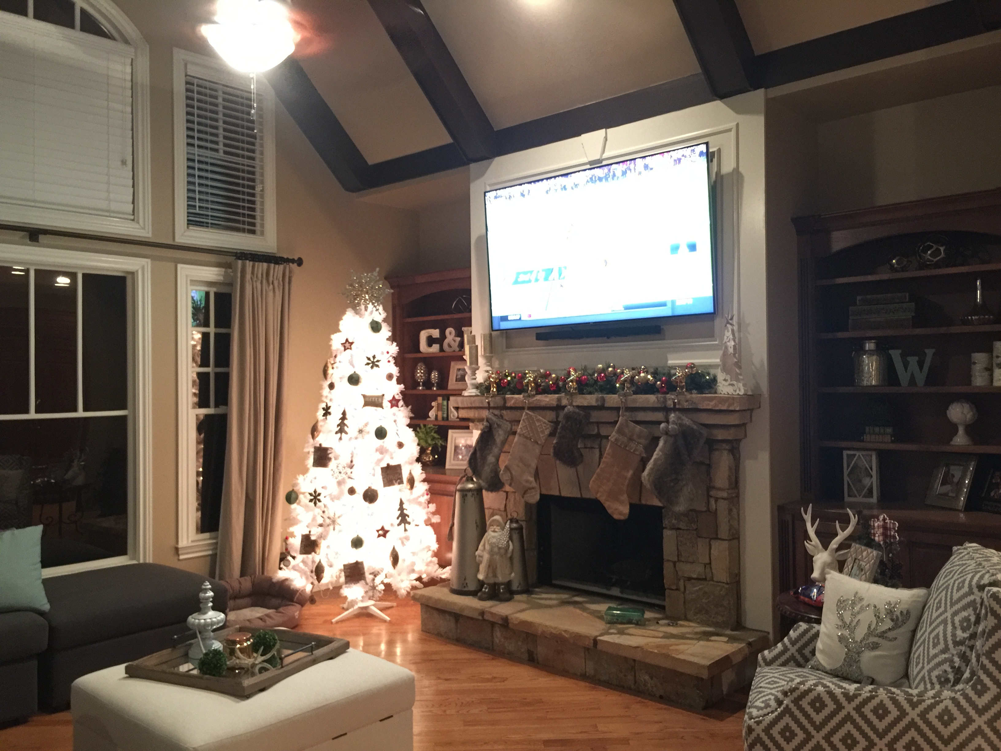 brick fireplace mantel mounting tv above mount stone over